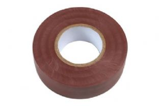 Connect 36889 Brown PVC Insulation Tape 19mm x 20m Pk 1
